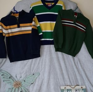 Boy's size 4t. Cotton sweaters 3pc.